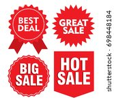 sale promotion label | Shutterstock .eps vector #698448184