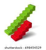 red and green building block...   Shutterstock . vector #698454529
