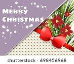 greetings card  style modern... | Shutterstock .eps vector #698456968
