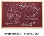 digital composite of diagrams... | Shutterstock . vector #698460154