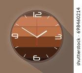 clock vector illustration on... | Shutterstock .eps vector #698460214
