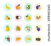 set vector illustration of... | Shutterstock .eps vector #698461660