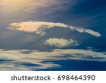 sky beautiful colorful clouds... | Shutterstock . vector #698464390