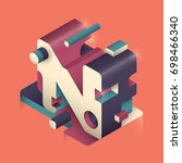 abstract n letter design made... | Shutterstock .eps vector #698466340