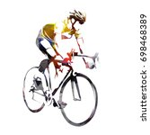 road cycling  abstract... | Shutterstock .eps vector #698468389