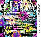 seamless geometric pattern... | Shutterstock .eps vector #698476540