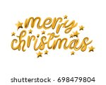 merry christmas. gold balloons... | Shutterstock .eps vector #698479804