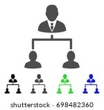 human hierarchy flat vector... | Shutterstock .eps vector #698482360