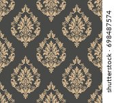 vector damask seamless pattern... | Shutterstock .eps vector #698487574