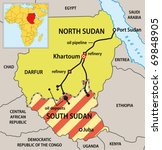 Sudan Political Map With New...