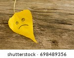 Yellow Leaf With A Picture Of A ...