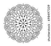 mandala. black and white...   Shutterstock .eps vector #698497339