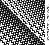 diagonal zigzag lines seamless... | Shutterstock .eps vector #698499268