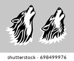stylized tattoo vector... | Shutterstock .eps vector #698499976