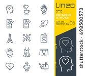 lineo editable stroke   love... | Shutterstock .eps vector #698500573