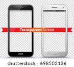 transparent mobile phone... | Shutterstock .eps vector #698502136