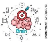 brain strategy think idea power ... | Shutterstock .eps vector #698508043
