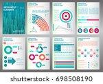 abstract vector business... | Shutterstock .eps vector #698508190
