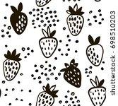 seamless black and white...   Shutterstock .eps vector #698510203