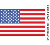united states of america flag ... | Shutterstock .eps vector #698514556