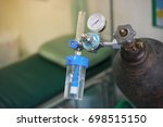 equipment medical oxygen tank... | Shutterstock . vector #698515150