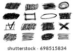 set of simple bold hatching... | Shutterstock .eps vector #698515834