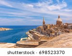 view from above of the golden... | Shutterstock . vector #698523370