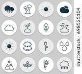 world icons set. collection of... | Shutterstock .eps vector #698525104