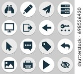 interface icons set. collection ... | Shutterstock .eps vector #698526430
