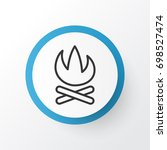 campfire icon symbol. premium... | Shutterstock .eps vector #698527474