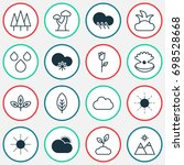 harmony icons set. collection... | Shutterstock .eps vector #698528668