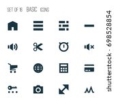 interface icons set. collection ... | Shutterstock .eps vector #698528854