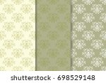 floral seamless patterns.... | Shutterstock .eps vector #698529148