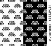 black and white set of... | Shutterstock .eps vector #698529184