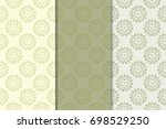 set of floral ornaments. gray... | Shutterstock .eps vector #698529250