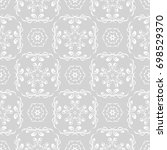 light gray seamless pattern.... | Shutterstock .eps vector #698529370