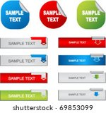 modern buttons with tags | Shutterstock .eps vector #69853099