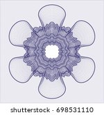 blue abstract rosette | Shutterstock .eps vector #698531110
