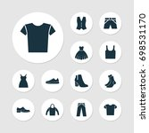 dress clothes icons set.... | Shutterstock .eps vector #698531170