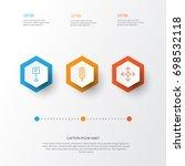 transportation icons set.... | Shutterstock .eps vector #698532118