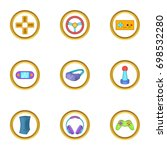 video game icon set. cartoon... | Shutterstock .eps vector #698532280