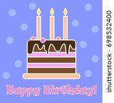 happy birthday. greeting card... | Shutterstock .eps vector #698532400