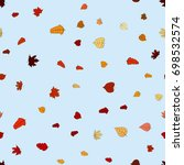 abstract vector doodle autumn... | Shutterstock .eps vector #698532574