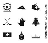 canadian symbols icon set.... | Shutterstock .eps vector #698532628