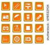 photo studio icons set in... | Shutterstock .eps vector #698532934