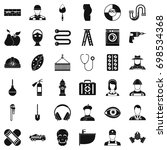 good occupation icons set.... | Shutterstock .eps vector #698534368