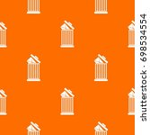 envelope in trash bin pattern... | Shutterstock .eps vector #698534554