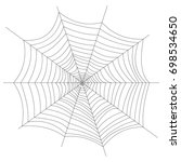 cobweb. halloween. isolated on...   Shutterstock . vector #698534650