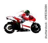 motorbike rider  abstract... | Shutterstock .eps vector #698536084