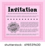 pink invitation. customizable ... | Shutterstock .eps vector #698539630